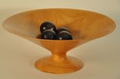 Pennsylvania Black Cherry vessel with 4 blood-red White Ash spheres