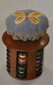 Pin cushion for Fred's Creative Woodworking Bobbin Caddie