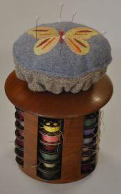 Pin cushion for Fred's Creative Woodworking Bobbin Caddie