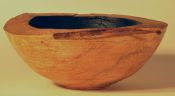 Ebonized wood vessel