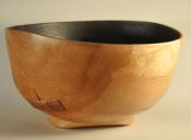Bandage side- stitched,bandaged,ebonized bowl
