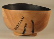 Stitched wooden bowl