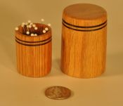 Silk pin holder and wooden cover