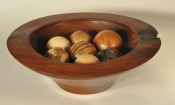 Walnut Bowl with Spheres